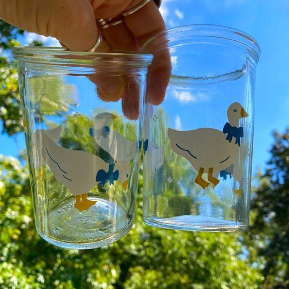 Vintage Cottagecore Juice Glass Set of 4